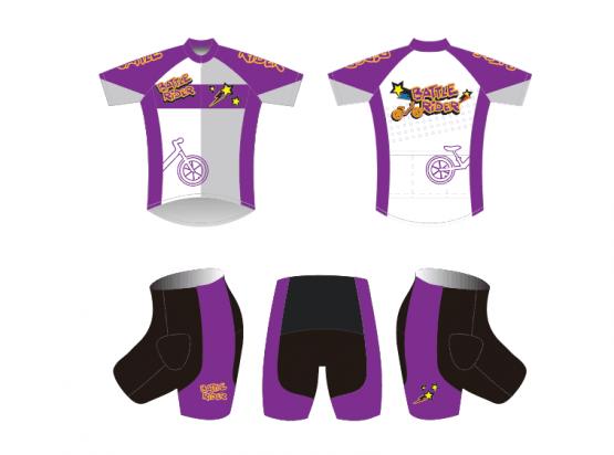 Battle Rider 平衡車服 (紫色)