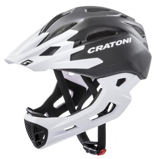 兒童全式頭盔 Cartoni C-Maniac Black-White Matt