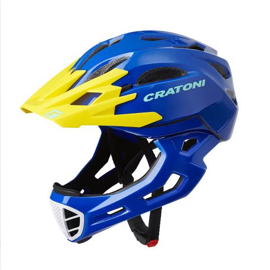 兒童全式頭盔 Cartoni C-Maniac Blue-Yellow Glossy