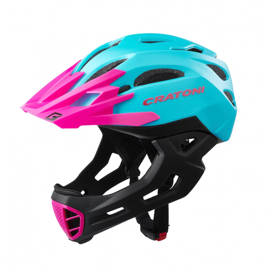 兒童全式頭盔 Cartoni C-Maniac Turquoise-Pink Matt