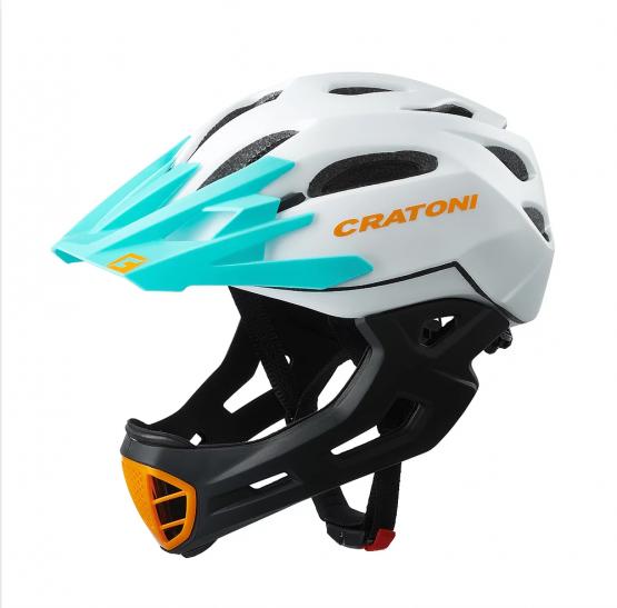 兒童全式頭盔 Cartoni C-Maniac White-Black-Ot Matt
