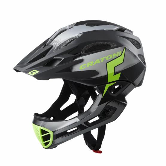 兒童全式頭盔 Cratoni C-Maniac Pro Black-Lime Matt
