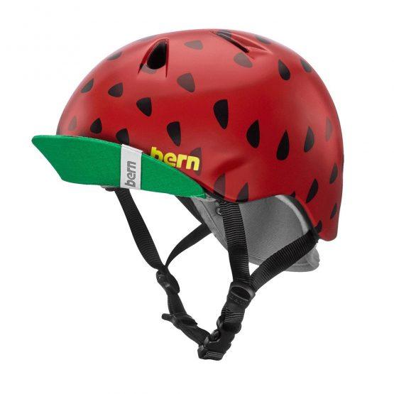 兒童頭盔 BERN-Satin Red Strawberry 紅色