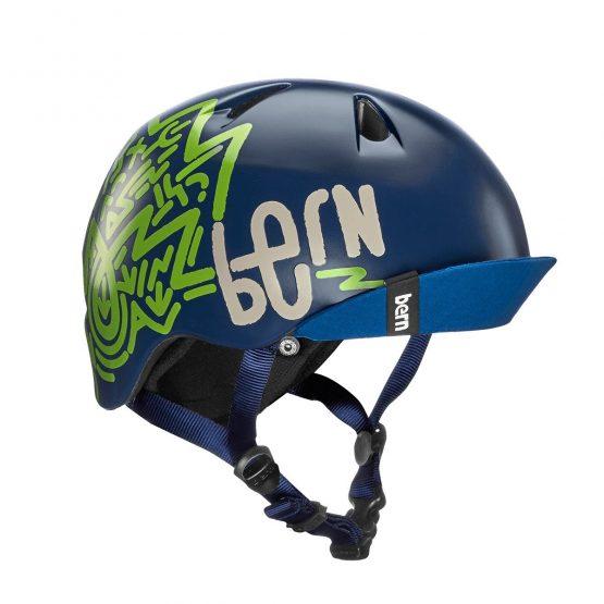 兒童頭盔 BERN-Navy Blue Zig Za 藍色