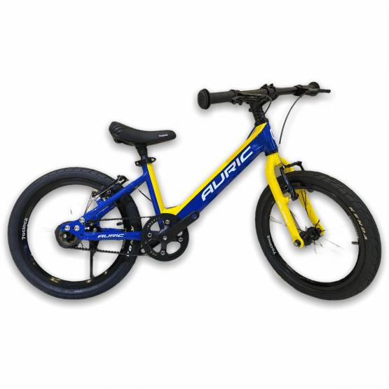 AURIC 兒童單車 16吋 黃藍色 輕量皮帶單車